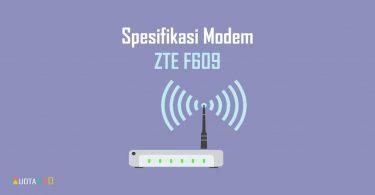 Spesifikasi Modem ZTE F609