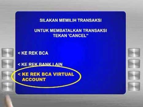 Top Up M-TIX Melalui ATM BCA