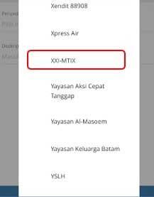Top Up M-TIX via Mandiri Internet