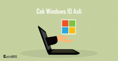 Cara Cek Windows 10 Asli