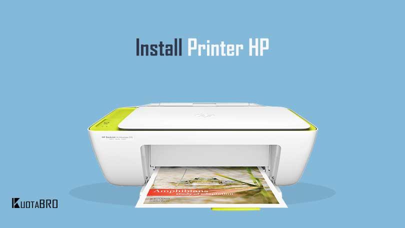 Cara Install Printer HP