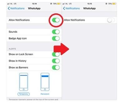 Cara Menonaktifkan WA di iPhone