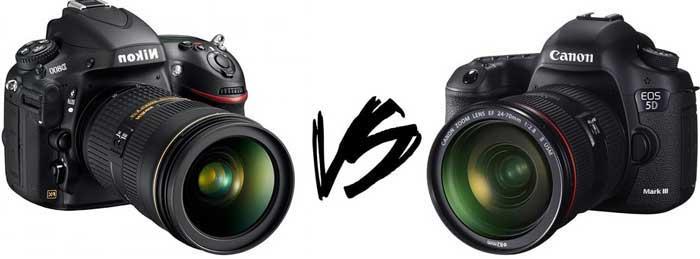 Kamera Canon vs Nikon