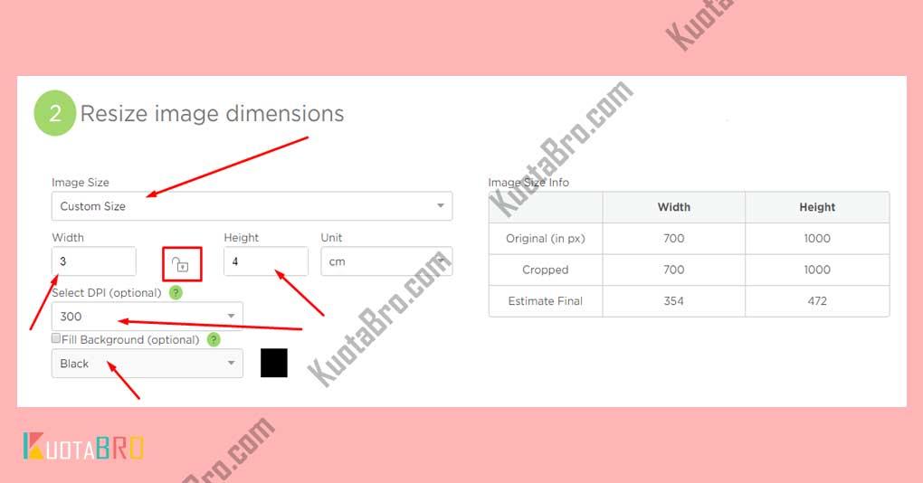 Mengubah Foto 3x4 dengan Imageresize