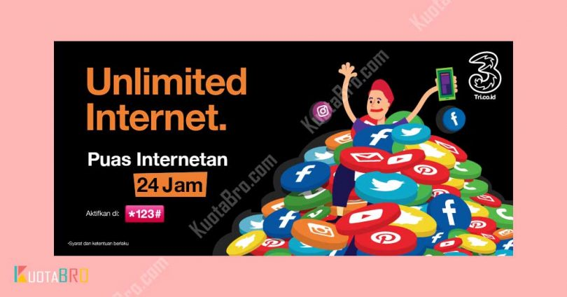 Paket Internet Tri Unlimited 24 Jam