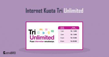 Paket Internet Tri Unlimited Tanpa Kuota