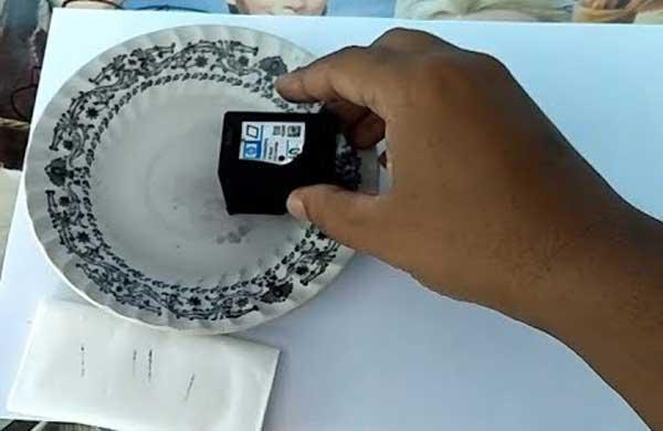 Rendam Cartridge Dengan Air Hangat
