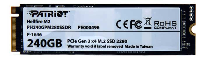 SSD M.2 Patriot Hellfire