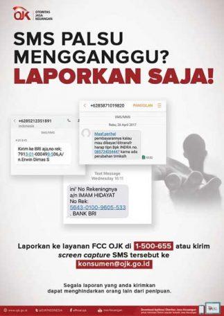 Cara Melaporkan SMS Penipuan ke OJK