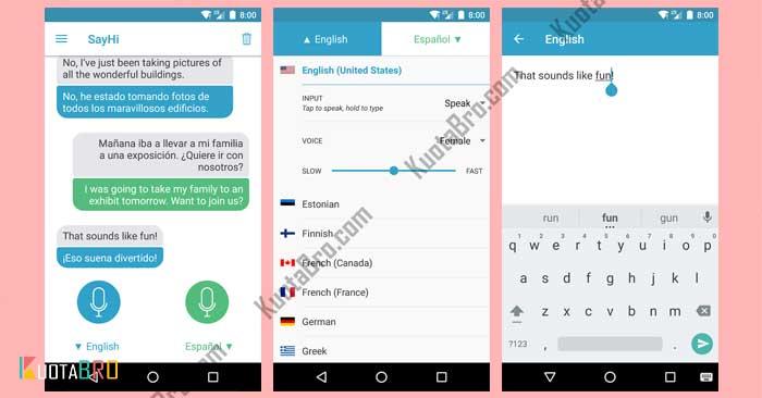 aplikasi translate terbaik dan akurat SayHi Translate