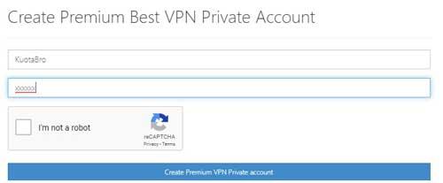 kolom username dan password