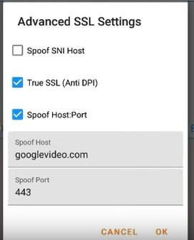 Advance SSL Setting