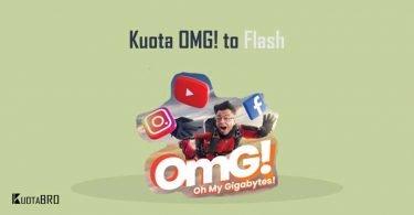 Cara Mengubah Kuota OMG menjadi Flash
