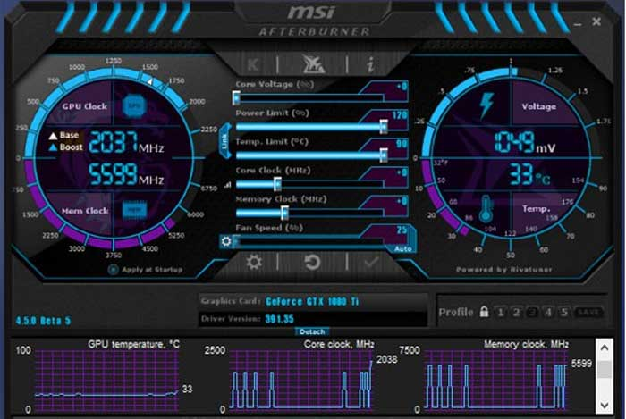 Cek FPS Game Memakai MSI Afterburner