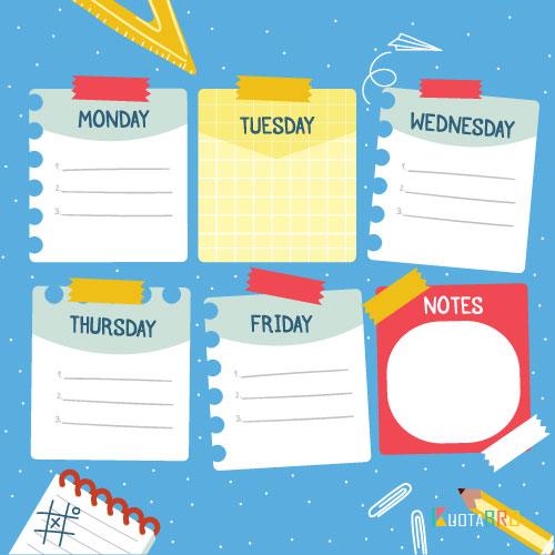 Download] 7 Contoh Jadwal Piket Unik dari Karton & Cara ...
