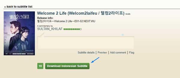 Download subtitle drama