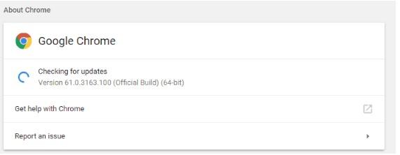 Pastikan Browser Sudah Update