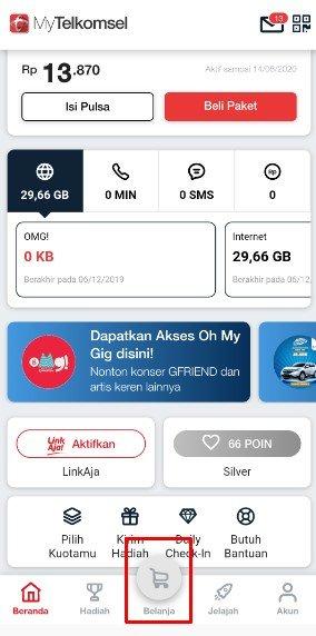 Belanja My Telkomsel