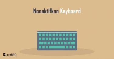 Cara Mematikan Keyboard Laptop