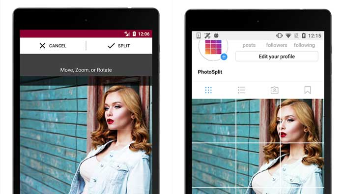 Cara Membuat Feed Instagram Nyambung Photo Split