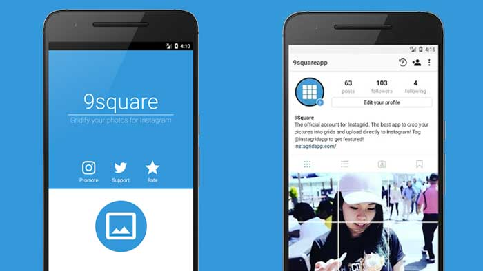 Cara Membuat Feed Instagram Nyambung dengan 9Square