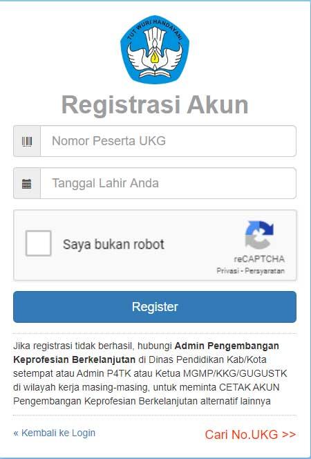 Cara Registrasi Akun SIMPKB