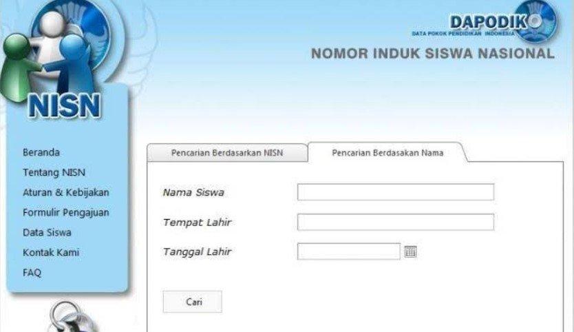 Cek NISN Berdasarkan Nama