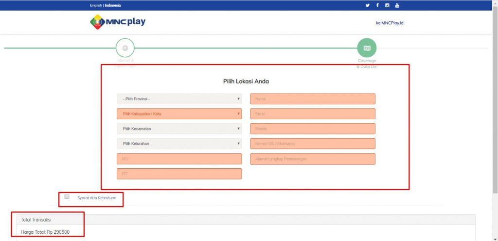 Registrasi Layanan Internet MNC Play