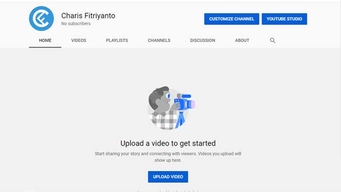 cara membuat youtube dengan pc