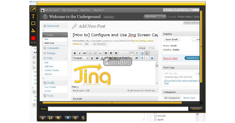 jing screen capture
