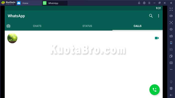 video call whatsapp di laptop windows