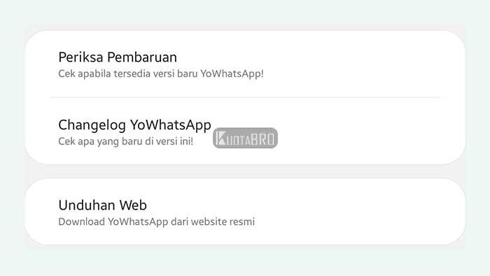 Cara Memperbarui WhatsApp melalui Pengaturan