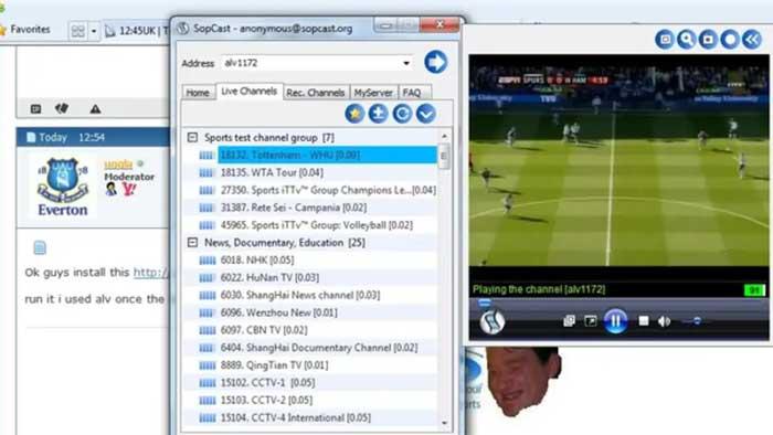 Cara Nonton TV di Laptop dengan SopCast