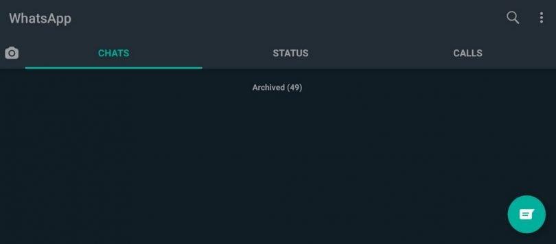 tampilan whatsapp dark mode