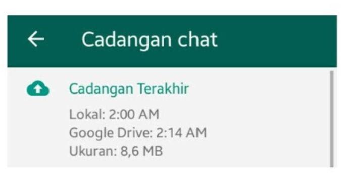cara melihat back up whatsapp di google drive