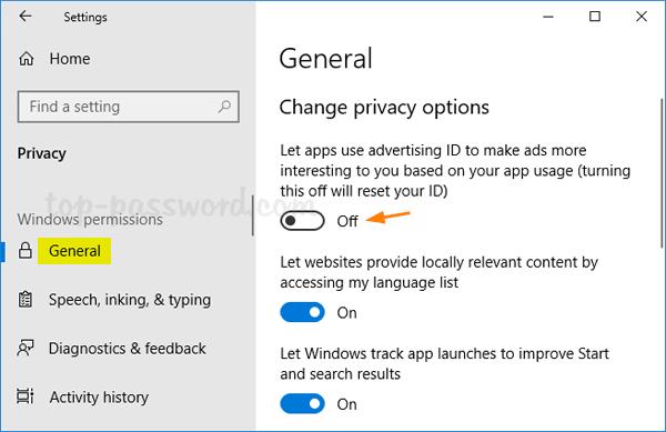 menghilangkan iklan pada windows 10