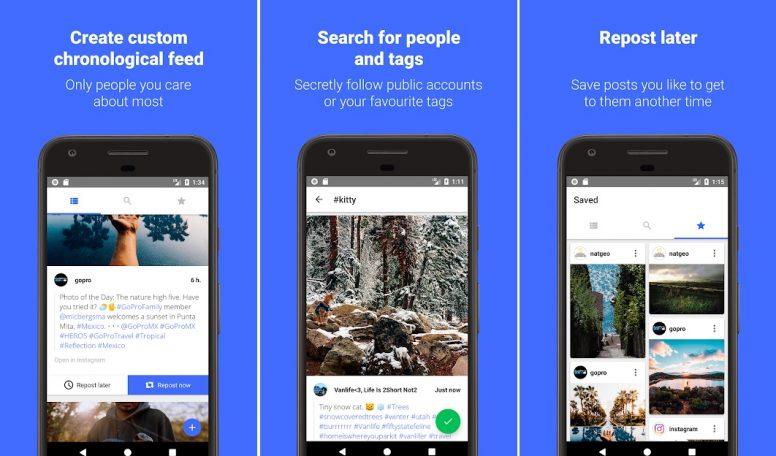 Cara Repost Instagram Memakai Aplikasi Reposter for Instagram Download and Save