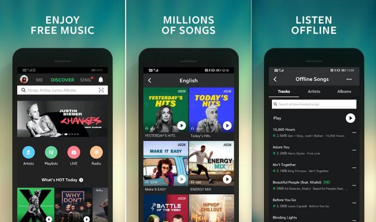 Download JOOX Music aplikasi download lagu mp3