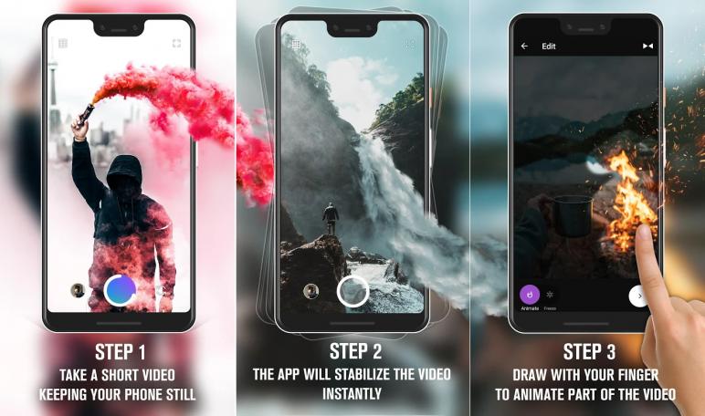 Cara Membuat Foto Bergerak Memakai Aplikasi Loopsie - Motion Video Effects Living Photos