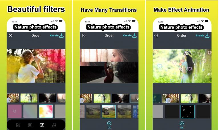 Cara Membuat Foto Bergerak Memakai Aplikasi Photo Effects Theme Nature, Nature Photo