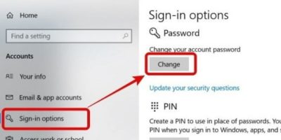 Cara Ganti Password Windows 10