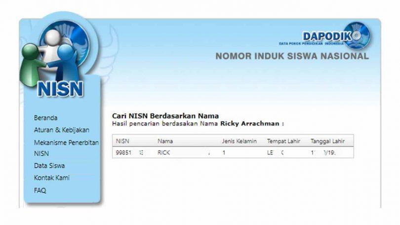 Cara Cek NISN Siswa SD, SMP dan SMA Secara Online - Cara Cek NISN Siswa SD SMP dan SMA Secara Online