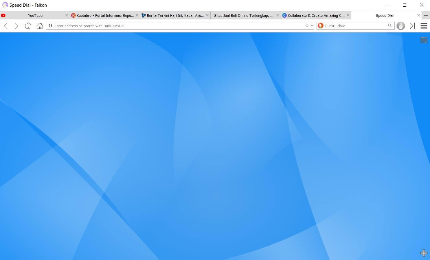Halaman Depan Falkon Browser
