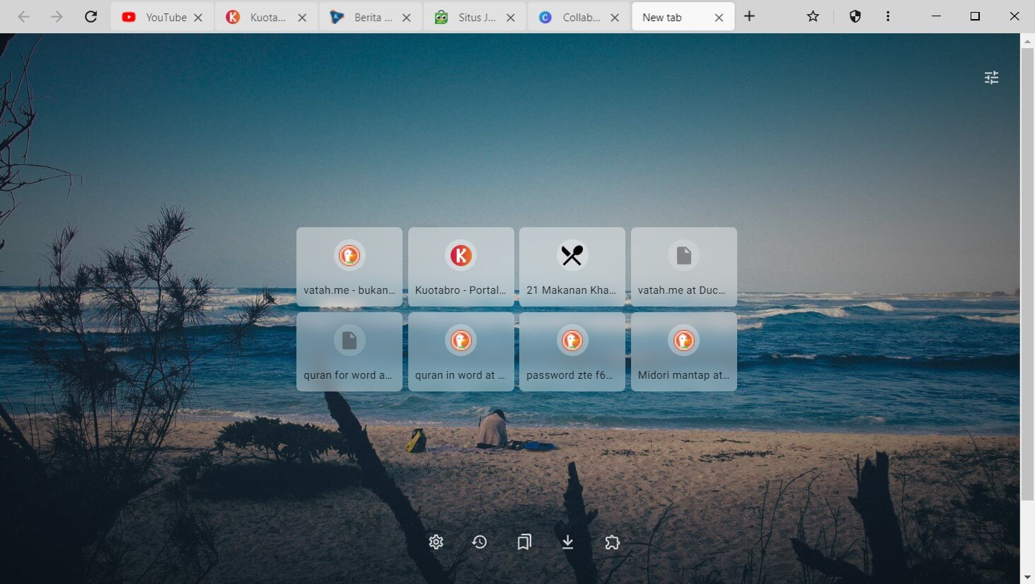 Halaman Depan Midori Browser