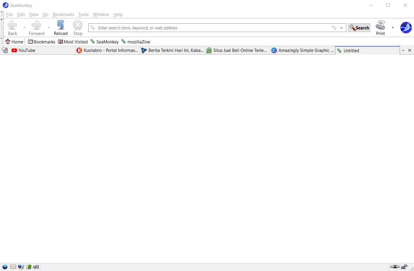 Halaman Depan Seamonkey Browser
