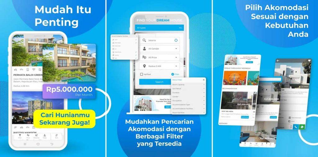 Aplikasi Cari Rumah Kontrakan-IZIStay