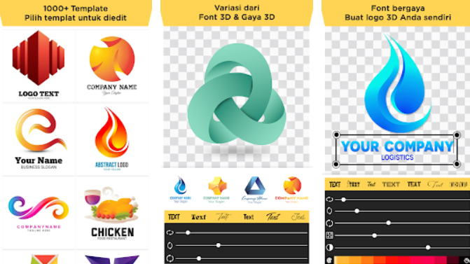 21+ Aplikasi Pembuat Logo Android, iOS dan PC - 3d logo maker img