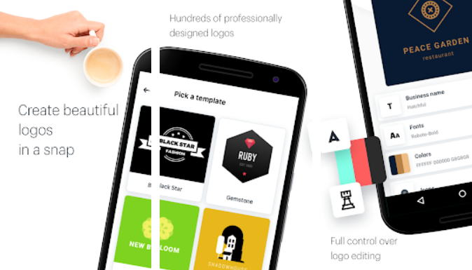 21+ Aplikasi Pembuat Logo Android, iOS dan PC - Logo Maker Design Create img