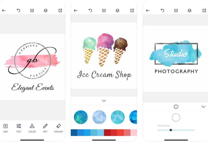 21+ Aplikasi Pembuat Logo Android, iOS dan PC - Watercolor Logo Maker img