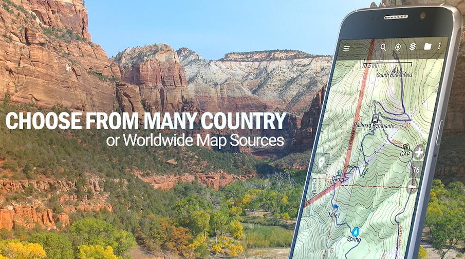 Aplikasi GPS Terbaik - backcountry navigator img